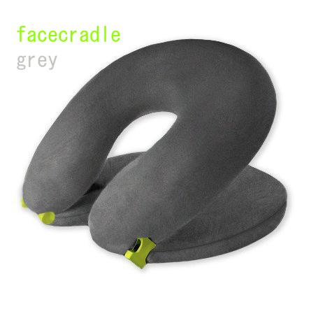 Facecradle Travel Pillow Upgrade To Sleeping Class Grey