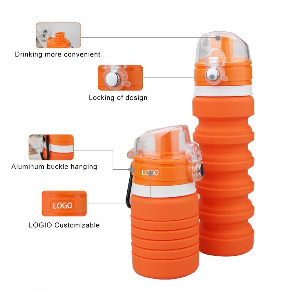 Silicone Foldable Sport Water Bottle