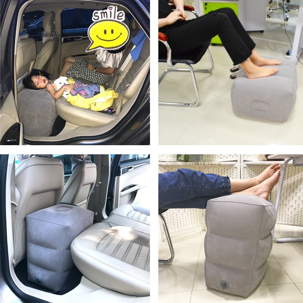 Inflatable Travel Pillow for Foot Rest on Airplanes and Kids to Sleep on Long Flights 9
