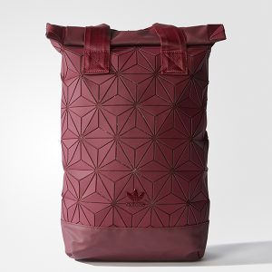 paris2u latest new sep17 launch adidas 3d mesh roll top backpack bag maroon red 0