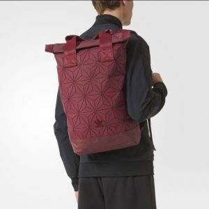 paris2u latest new sep17 launch adidas 3d mesh roll top backpack bag maroon red 1
