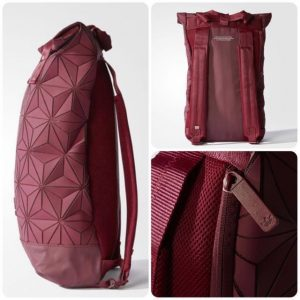 paris2u latest new sep17 launch adidas 3d mesh roll top backpack bag maroon red 2