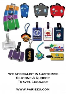 Customised Travel Luggage Tag – Specialist in Rubber & Silicone Sample 1